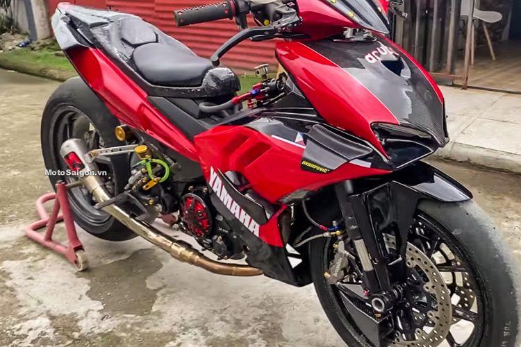 Yamaha Exciter dimodifikasi menjadi seperti Ducati V4 Streetfighter