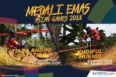 INFOGRAFIK Asian Games: Medali Emas Ke-3 dan Ke-4, Tiara Andini dan Khoiful Mukhib