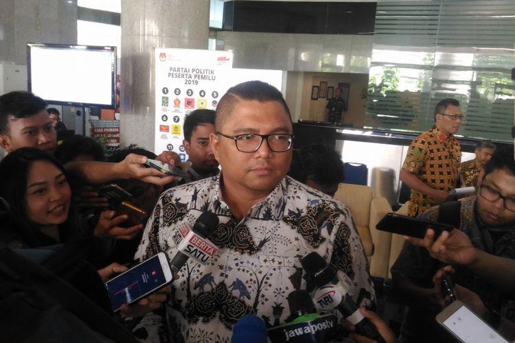 Divisi Hukum Bawaslu Fritz Edward Siregar di Gedung PPATK, Jakarta, Selasa (18/12/2018).