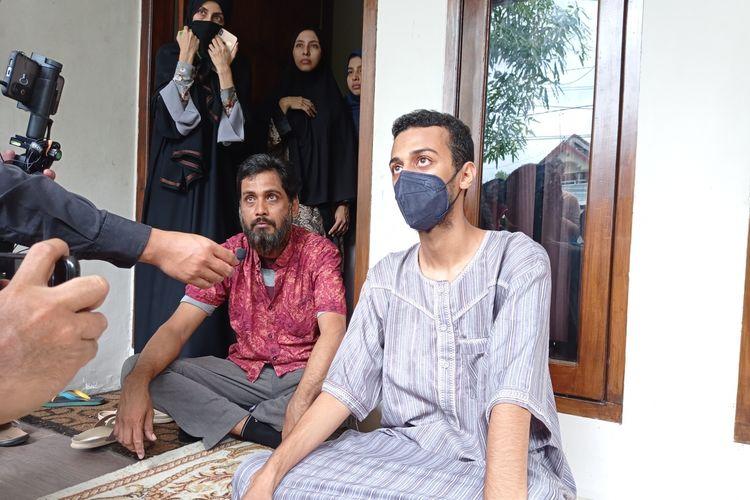 Alhasan Ali Jaber, anak pertama Syekh Ali Jaber saat ditemui di rumah duka di Mataram, NTB, Kamis (14/1/2021).