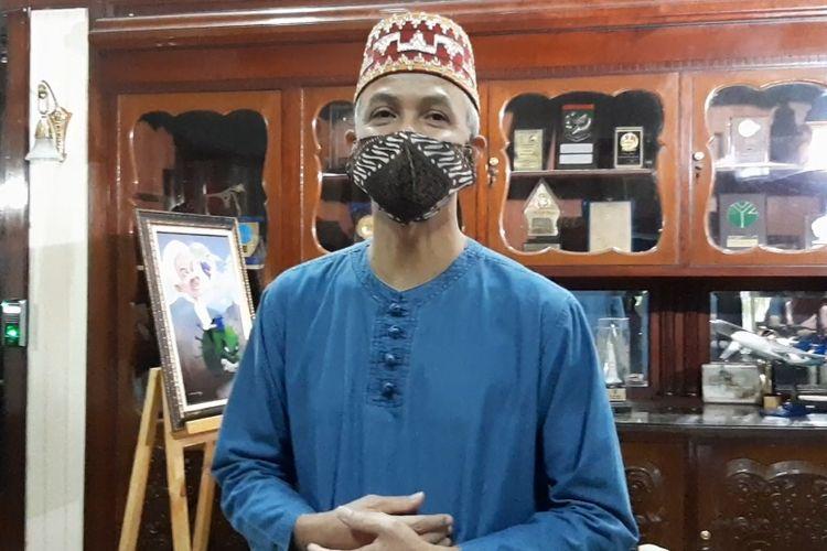 Gubernur Jawa Tengah Ganjar Pranowo saat ditemui di Puri Gedeh, Sabtu (23/5/2020).
