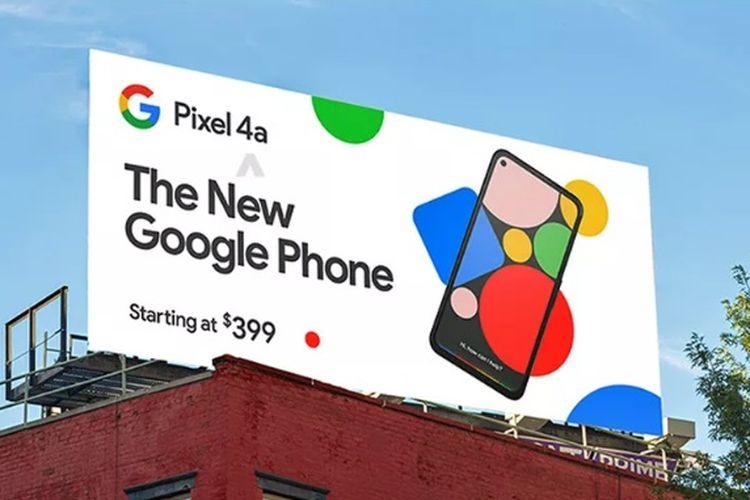 Penampakan billboard Ponsel Google Pixel 4a