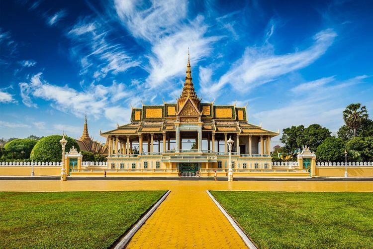 Ilustrasi Kamboja - Royal Palace.