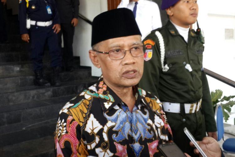 Ketua Umum Pimpinan Pusat Muhammadiyah Haedar Nashir saat menghadiri Pesmaba Universitas Muhammadiyah Malang (UMM), Senin (2/9/2019)