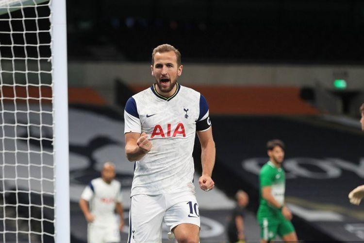 Harry Kane membukukan gol ke-200 bagi Tottenham Hotspur kala menyumbang gol pada menit ke-13 dalam kemenangan 3-1 Spurs atas Ludogorets Razgrad pada laga lanjutan Liga Europa, Jumat (6/11/2020) dini hari WIB.