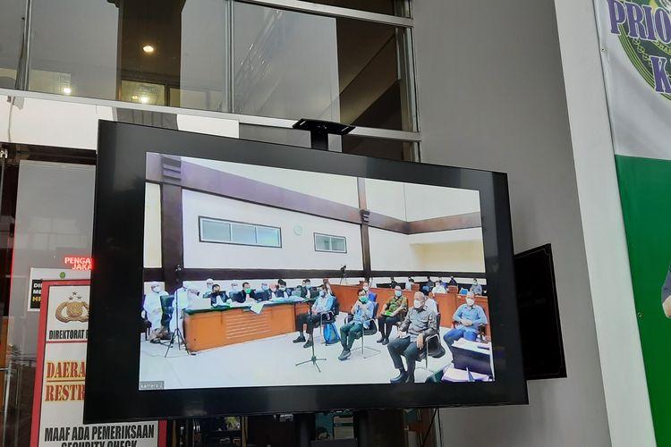 Sidang kasus kerumunan Rizieq Shihab di Pengadilan Negeri (PN) Jakarta Timur, Senin (12/4/2021).