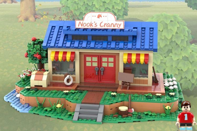 Replika Nooks Cranny, toko kelontong pada game Animal Crossing New Horizons