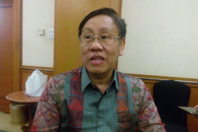 Ketua Komisi Pengawas Persaingan Usaha (KPPU)Kurnia Toha di Grand Sahid Jaya Hotel, Jakarta Pusat, Senin (3/12/2018).