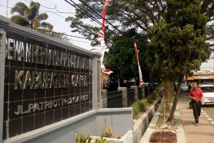 Kantor DPRD Garut di Jalan Patriot Kelurahan Sukagalih Kecamatan Tarogong Kidul sepi dari aktivitas Jumat (18/08/2017)