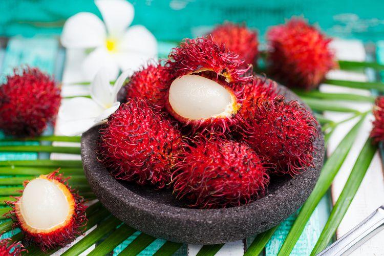 Ilustrasi buah rambutan.