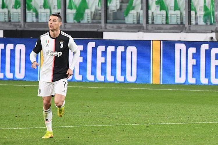 Penampilan penyerang Juventus Cristiano Ronaldo dalam pertandingan Serie A antara Juventus vs Inter Milan.