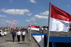 1.000 Bendera Merah Putih Berkibar di Terminal Tirtonadi Solo