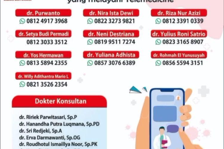 IDI Banyuwnagi buka layanan konsultasi online untuk pasien Isolasi Mandiri.