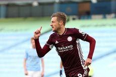Cetak Hattrick ke Gawang Man City, Jamie Vardy Ungguli Lionel Messi