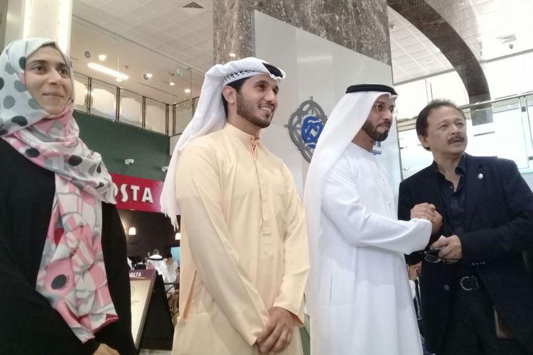 Dirut BEI Tito Sulistio saat berkunjung di Dubai Financial Market (DFM) di Dubai, Uni Emirat Arab (UEA)pada Minggu (29/10/2017).