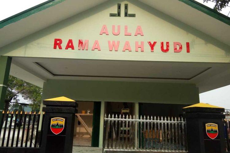 Gedung Aula Denpal 1/4 Pekanbaru diberi nama Rama Wahyudi.