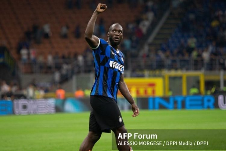 Romelu Lukaku win celebrate during the Italian Serie A football match Inter Milan vs US Lecce on August 26, 2019 at the San Siro stadium in Milan. Photo Morgese/Rossini / DPPI  ALESSIO MORGESE / DPPI Media / DPPI