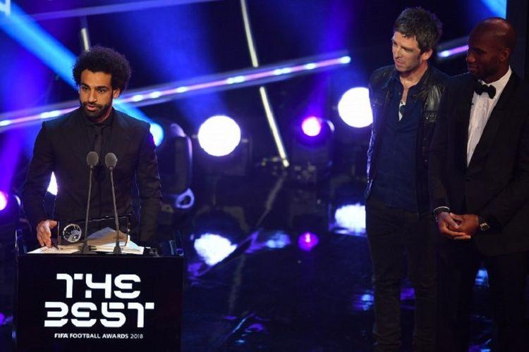 Mohamed Salah mendapat Puskas Award 2018 dalam The Best FIFA Football Awards yang berlangsung di London, 24 September 2018.