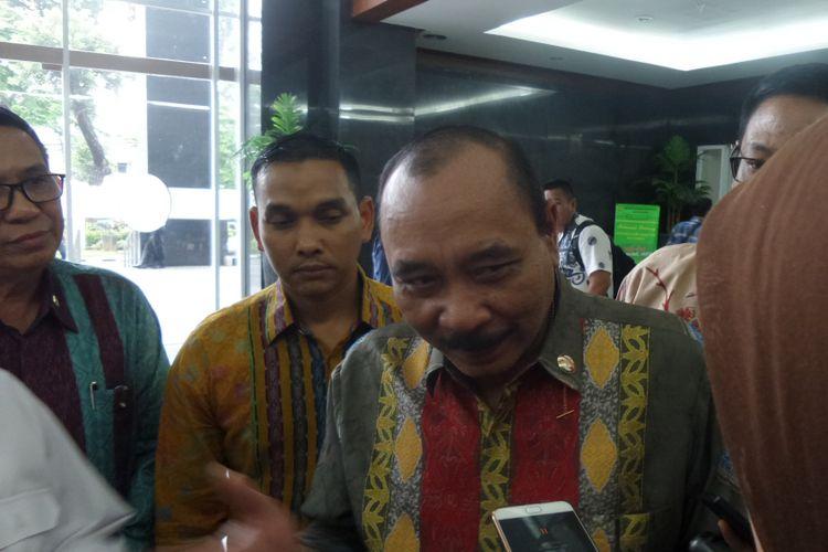 Kepala Badan Keamanan Laut (Bakamla) Laksamana Madya Arie Soedewo seusai bersaksi di Pengadilan Tipikor Jakarta, Rabu (26/4/2017).