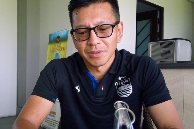 Direktur PT Persib Bandung Bermartabat (PBB) Teddy Tjahjono saat Partnership Golf Dasawarsa Bermartabat di Parahyangan Golf pada Minggu (29/9/2019).