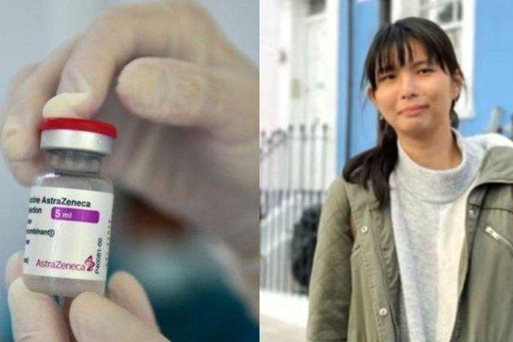 Kolase foto ilustrasi vaksin AstraZeneca (kiri) dan salah satu pemegang hak patennya, Carina Citra Dewi Joe (kanan), yang merupakan ilmuwan asal Indonesia. Carina Joe memegang hak paten di bidang manufaktur skala besar.