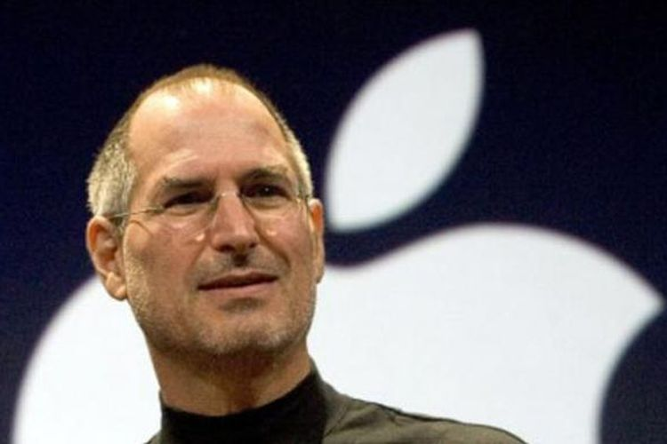 CEO Apple Steve Jobs pada peluncuran iPhone baru tanggal 9 Januari 2007 di San Francisco, California.