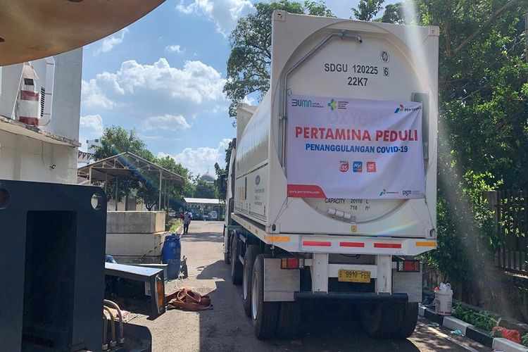 Pertamina bersama anak usahanya berhasil mendistribusikan 1.335 ton oksigen ke 206 rumah sakit di Pulau Jawa dan Bali