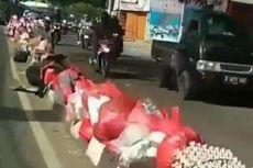 Tiap Hari, Tumpukan Sampah Berserakan di Trotoar di Ciledug
