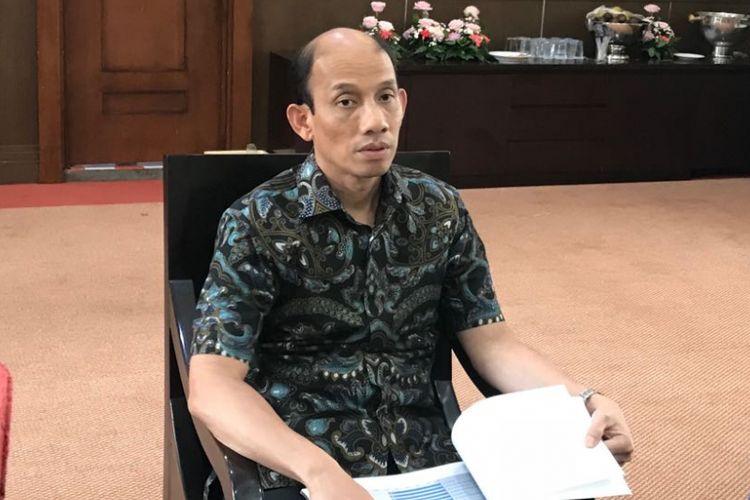 Wakil Menteri ESDM, Arcandra Tahar saat diwawancarai di kantornya, Jakarta, Jumat (10/8/2018).