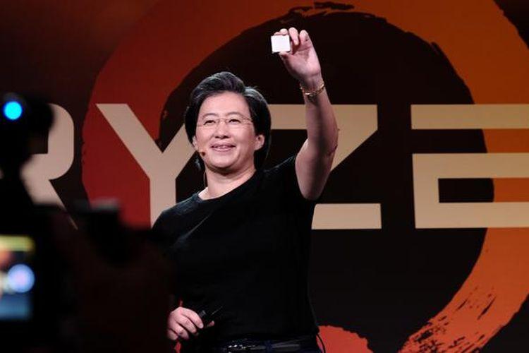 CEO and President of AMD Lisa Su, dalam saat bicara dalam Ryzen Tech Day di San Francisco, Amerika Serikat, Selasa (21/2/2017)