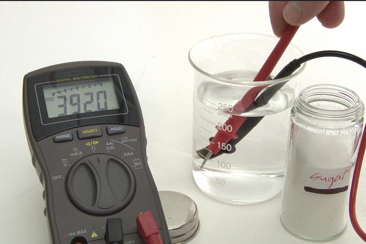 Ilustrasi larutan elektrolit