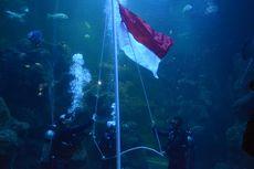 HUT Ke-75 RI, Ancol Gelar Pengibaran Bendera di Akuarium Besar Sea World
