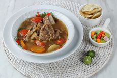Resep Sop Iga Asam Pedas, Masakan Lebaran Tanpa Santan Berkuah Segar
