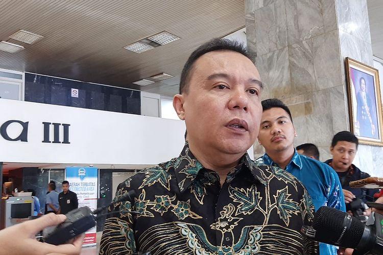 Wakil Ketua Umum Partai Gerindra Sufmi Dasco Ahmad di DPR, Senayan, Jakarta, Selasa (10/3/2020).