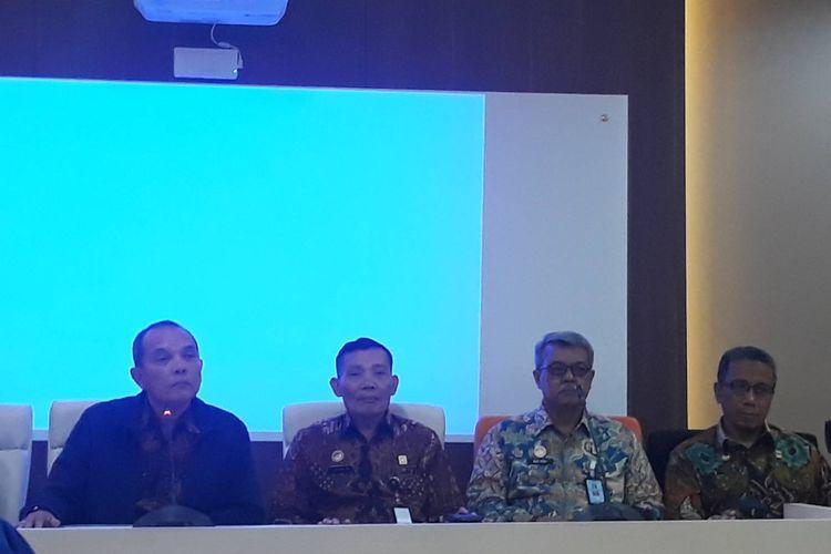 Konferensi pers di Kantor Kemenkumham, Jakarta Selatan, Jumat (24/1/2020).