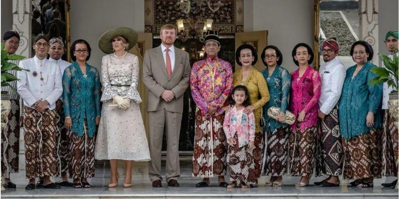 Raja Belanda, Willem-Alexander, dan Ratu Maxima bertemu dengan Sri Sultan Hamengkubuwono X serta Gusti Kangjeng Ratu Hemas dalam kunjungan ke Kraton Yogyakarta pada 11 Maret lalu.