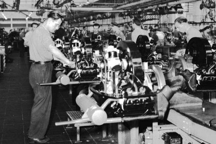 Pabrik Volkswagen di Jerman Barat