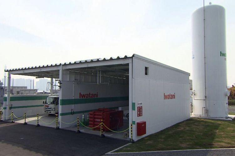 Kapsul tempat penyimpanan hidrogen di Hama-Wing Yokohama
