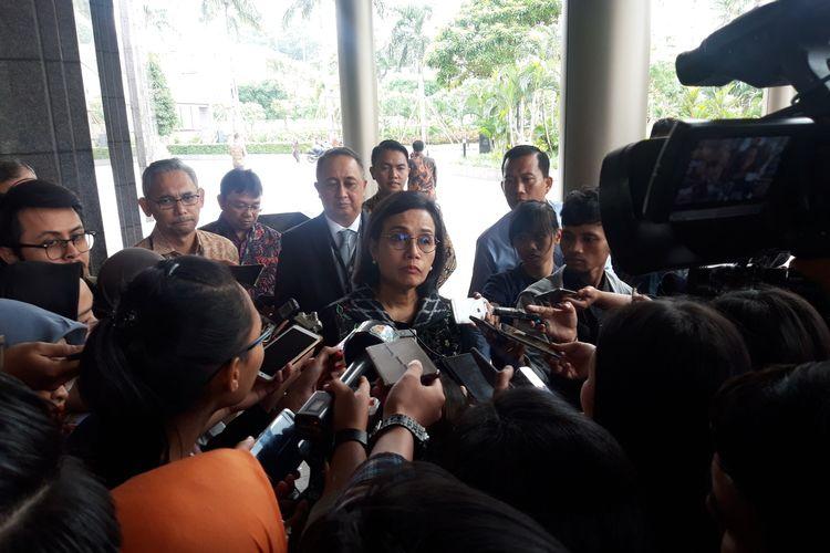 Menteri Keuangan  Sri Mulyani Indrawati di Jakarta, Rabu (5/2/2020).