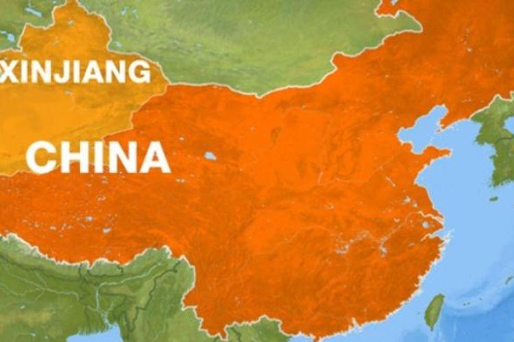 Peta Xinjiang.