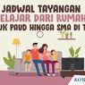 Jadwal TVRI Belajar dari Rumah Hari Ini, Kamis 24 September 2020