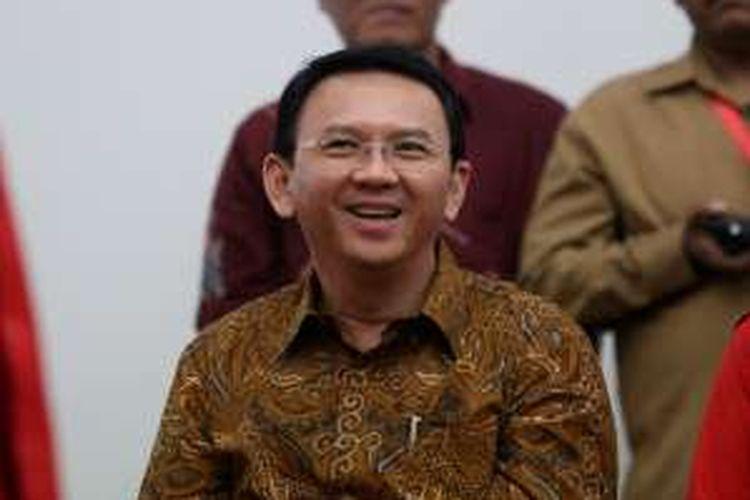 Basuki Tjahaja Purnama (Ahok)  diabadikan di Kantor DPP PDI Perjuangan, Jakarta, Senin (20/9/2016). Partai PDI P mengusung Ahok dan Djarot untuk pilkada DKI 2017 mendatang.