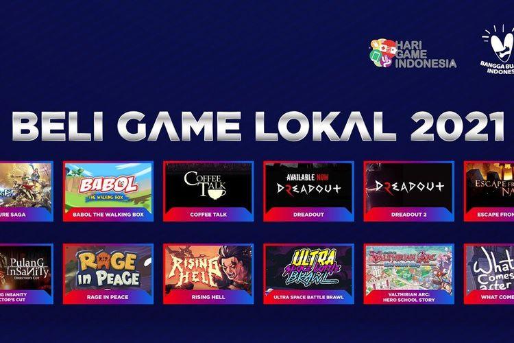 Ilustrasi poster Beli Game Lokal 2021.