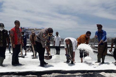 14.000 Ton Garam Industri di Sabu Raijua Belum Terjual, Menumpuk Sampai di Luar Gudang