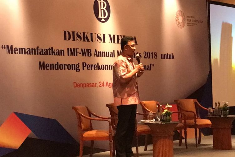 Kepala task force IMF-WB annual meeting 2018 Bank Indonesia (BI)  Peter Jacobs
