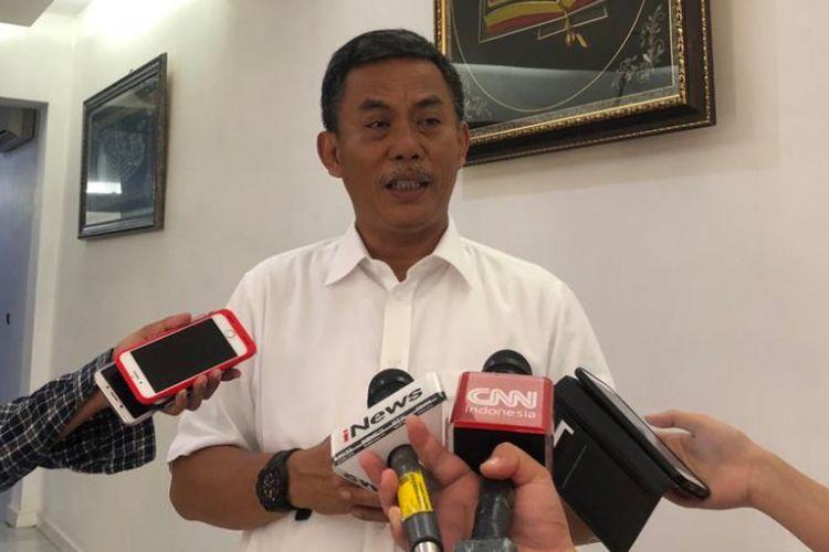 Ketua DPRD DKI Jakarta Prasetio Edi Marsudi di kediamannya, Jalan Imam Bonjol, Selasa (16/10/2018).