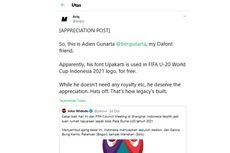 [KLARIFIKASI] Hak Cipta Font Logo Piala Dunia U-20