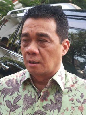 Ketua DPP Partai Gerindra Ahmad Riza Patria saat ditemui di kediaman Prabowo, Jalan Kertanegara, Jakarta Selatan, Rabu (23/10/2019).