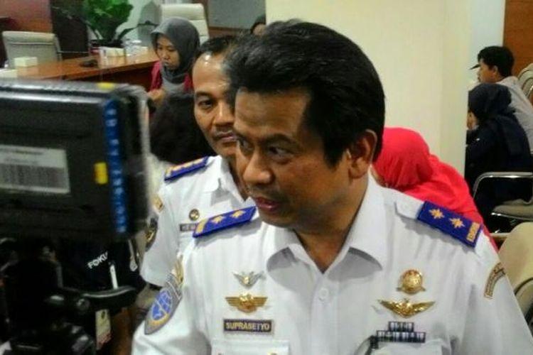Direktur Jenderal Perhubungan Udara Kemenhub Suprasetyo di Jakarta, Selasa (10/5/2016)