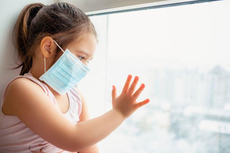 ilustrasi infeksi virus corona pada anak